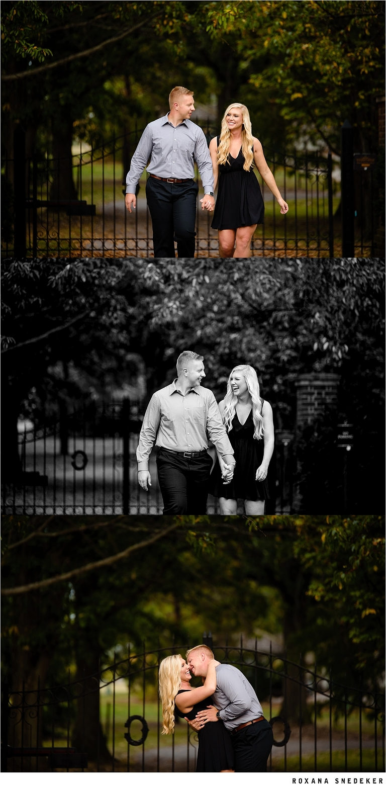 Outdoor fall engagement session