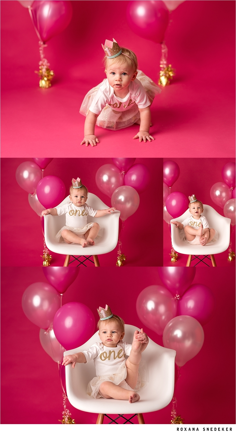 First Birthday pink background
