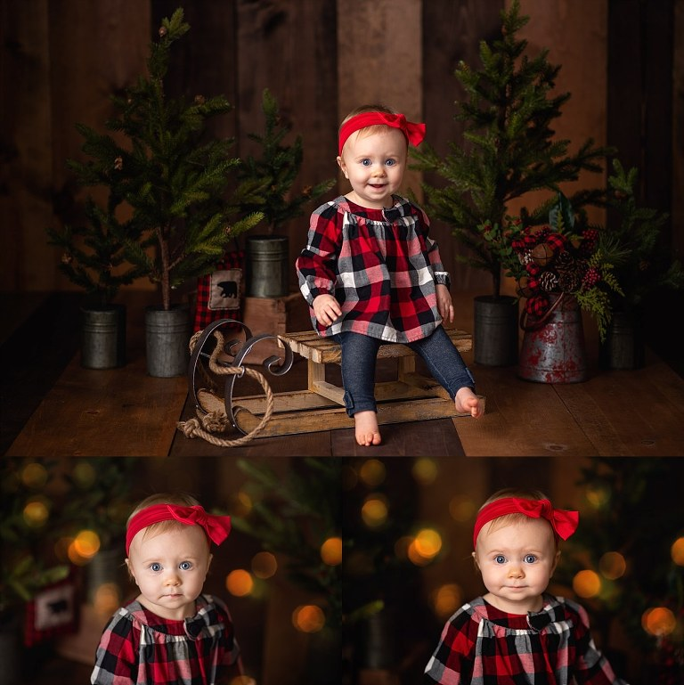 Family photos for Christmas mini session in the studio