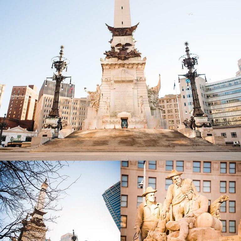Engagement proposal Indianapolis Monument Circle