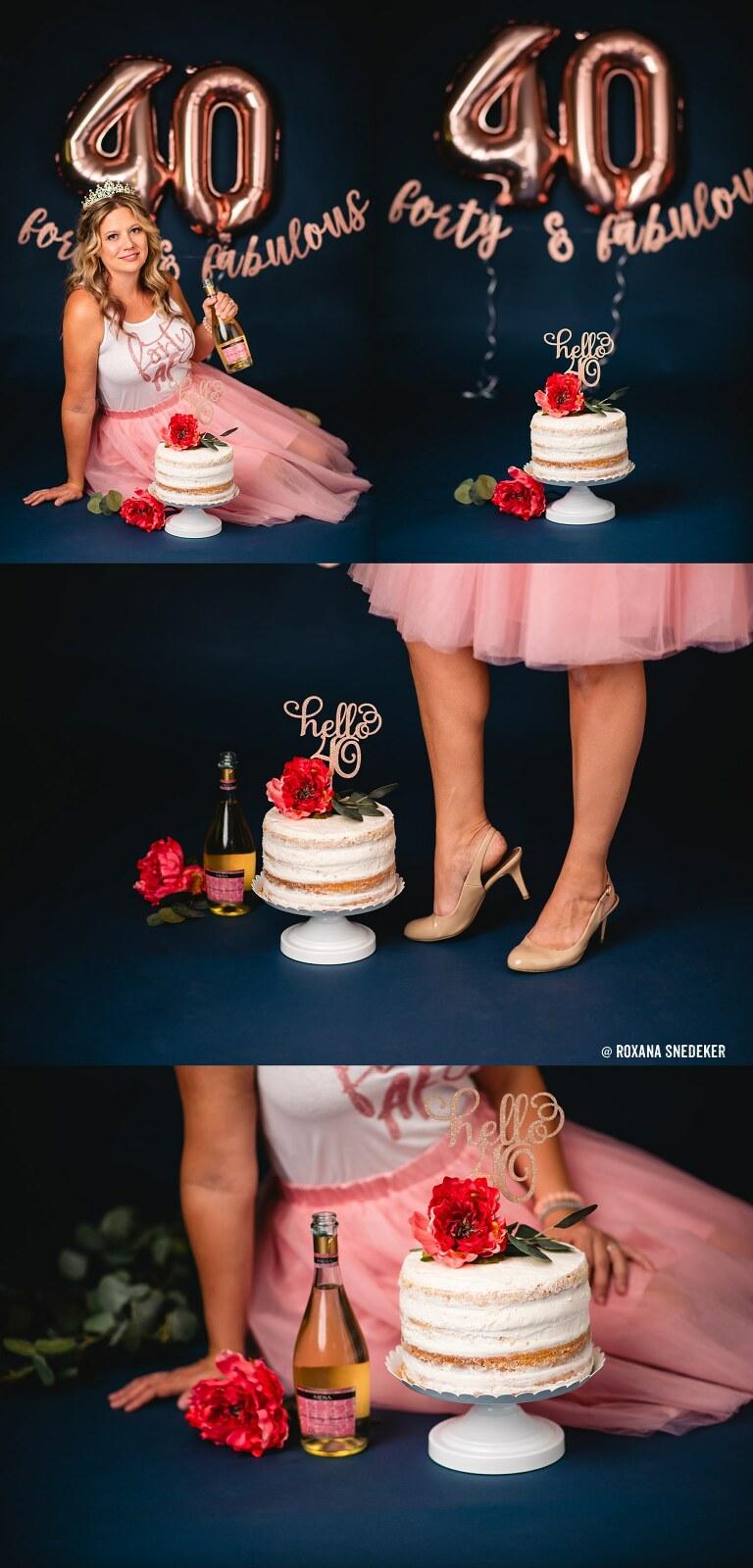 Adult Cake Smash | Happy 40th Birthday Bethany! Studio Photoshoot